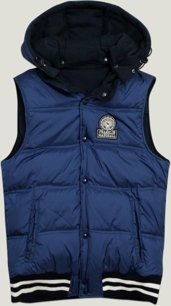 Chaleco de hombre reversible con capucha y logotipo de F & M. navy   Chaquetas   Hombre   Shop-Coleccion   Franklin