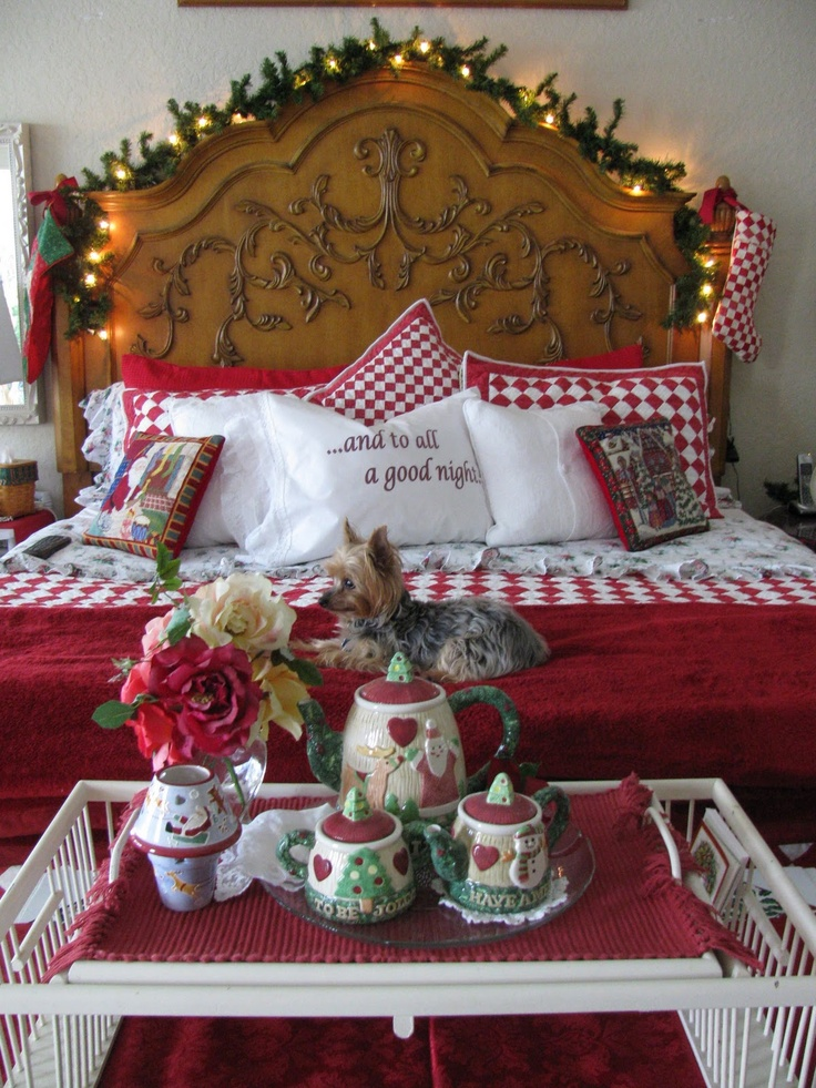 Christmas Bedrooms 78 best christmas bedrooms images on pinterest | christmas ideas