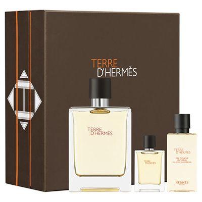 Coffret Terre d' #Hermès  Eau de Toilette Ce coffret est composé de : Vaporisateur 100ml + miniature 5ml + Gel Douche 40ml  #parfum