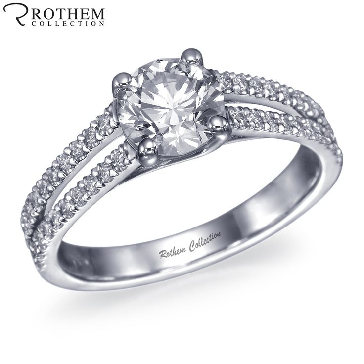 The Real Split Shank #Design of #Diamond #EngagementRings by #RothemCollection.