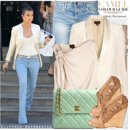 Kourtney KardashianCelebrity Style, Mint Green, Chanel Bags, Celebrities Style, Kourtney Kardashian, Spring Colors, Outfit, Blazers, Fashion File