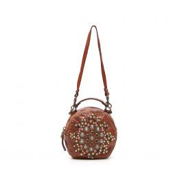 Round bag with multicolor decoration