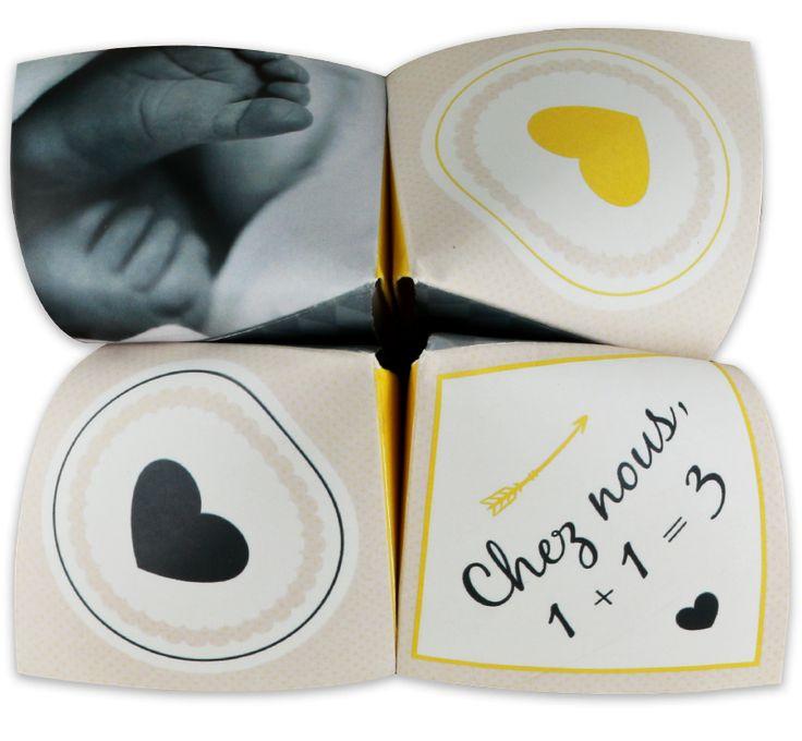 Bekannt Les 11 meilleures images du tableau Faire part naissance origami  LU55