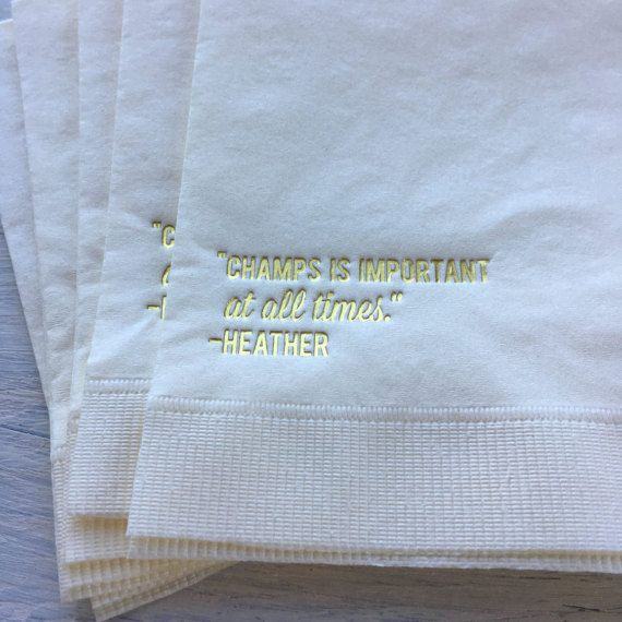 Real Housewive of Orange County, RHOC, Champagne cocktail napkin, beverage napkin Heather Dubrow funny napkin Real Housewives reunion party by EatCoutureCupcakes on Etsy