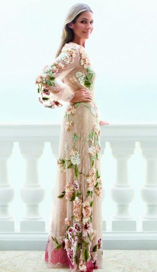 Aerin Lauder wearing Valentino (photographed by Claiborne Swanson Frank)