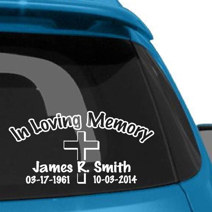 Best In Memory Decals Images On Pinterest Vinyl Decals In - Cross custom vinyl decals for car windows