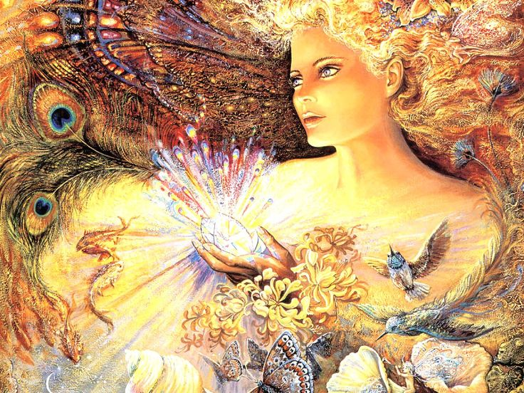 Oil painting by Josephine Wall, a popular English fantasy artist and sculptor.