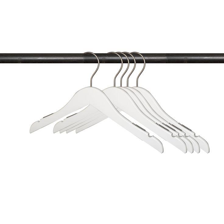 """(25 pcs) 14"""" Low Gloss White Wooden Shirt Hanger (14"""" Wooden Low Gloss White Shirt Hanger)"""