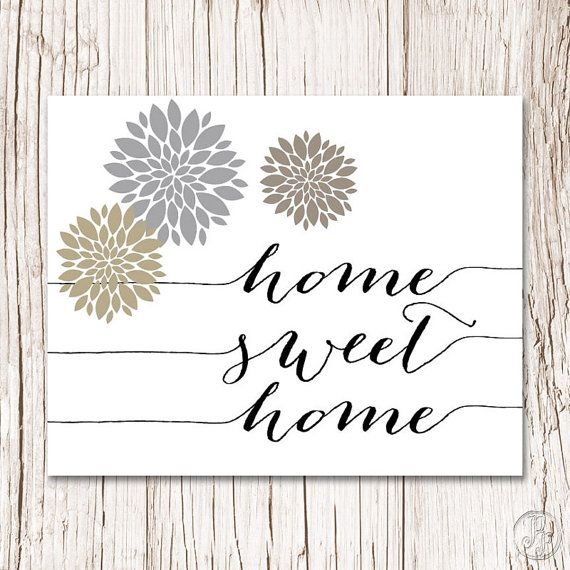 HOME SWEET HOME Printable Quote Print Quote by PaisleePrintables