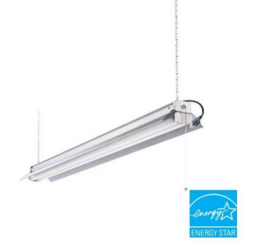 Garage 4 Feet 2 Light T8 Strip Fluorescent Shop Light Fixture Lamp Lighting Bulb #LithoniaLighting