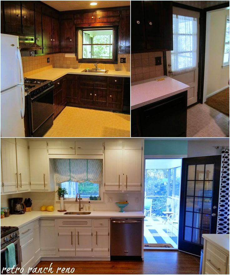 Old Kitchen Before And After: Retro Ranch Reno: Our Rancher: Before & After