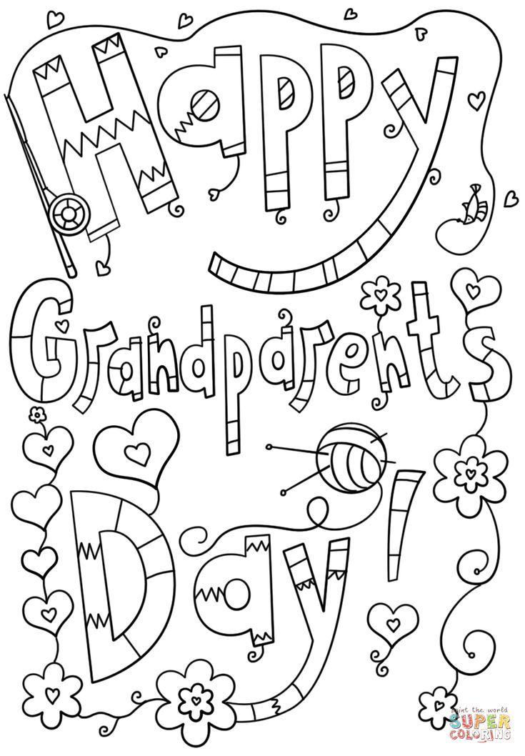 Print Off A Free Grandparents Day Coloring Page Free Grandparent S Day Coloring Pages Happy Grandparents Day Grandparents Day Cards Grandparents Day Preschool