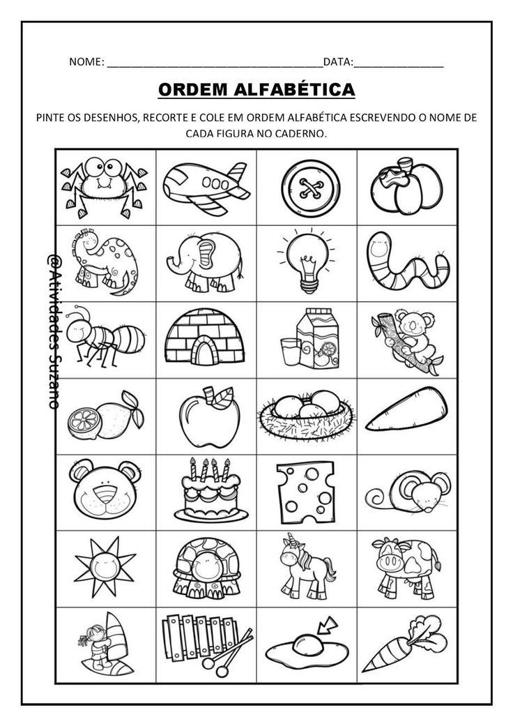 Professor estas atividades podem ser exploradas através de formação de frases, ordem alfabética, separação de sílabas, etc.....
