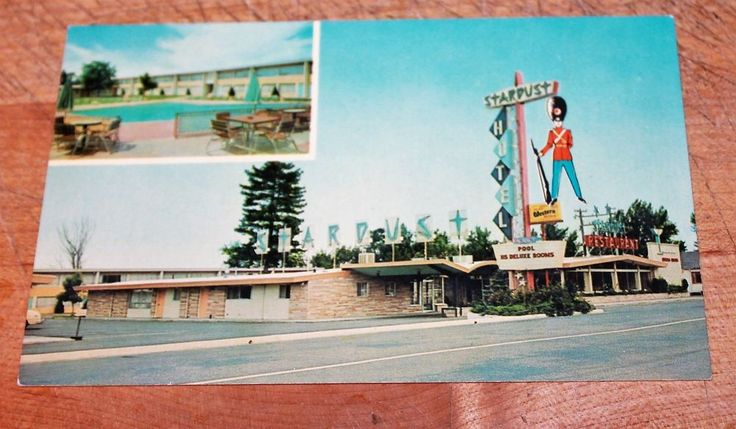60s PC Sentry Stardust Motor Hotel Boise ID Two Views