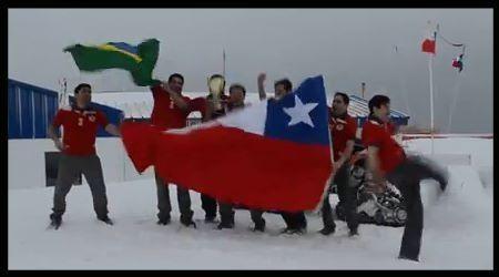 Celebracion en la Antartica