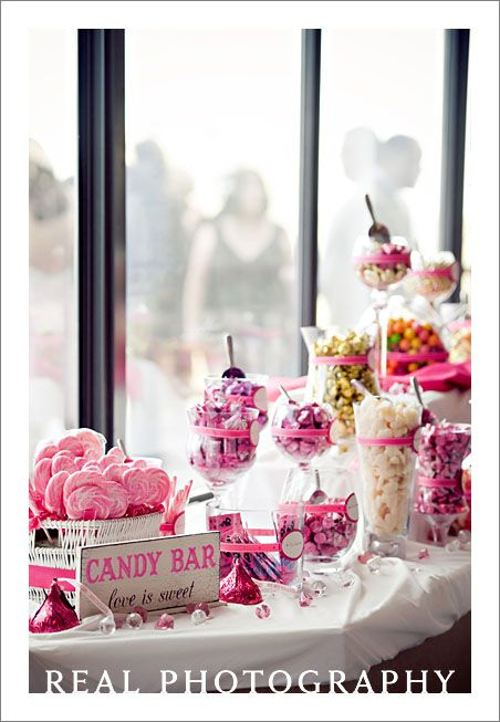 Candy bar at wedding reception mother of the bride for Candy bar for weddings receptions