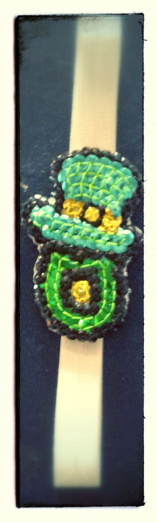 Sequin green Oriole's O St. Patrick's day headband by HeadQuase, $15.00