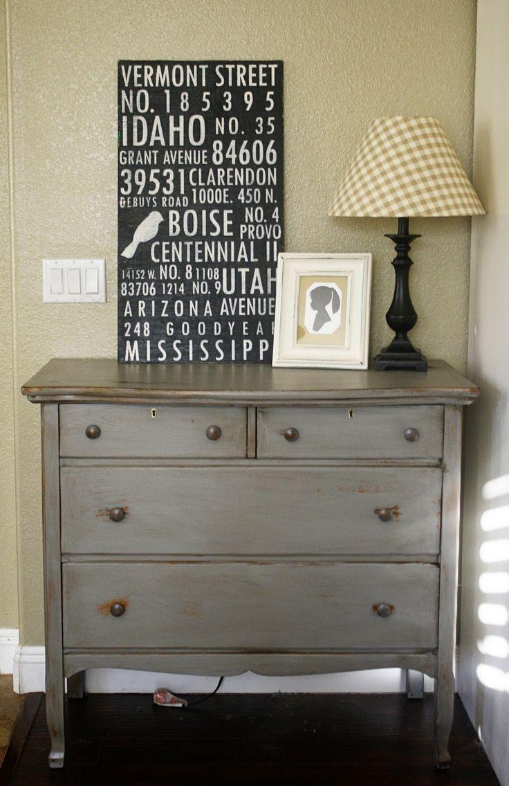 Grey dresser - distressing