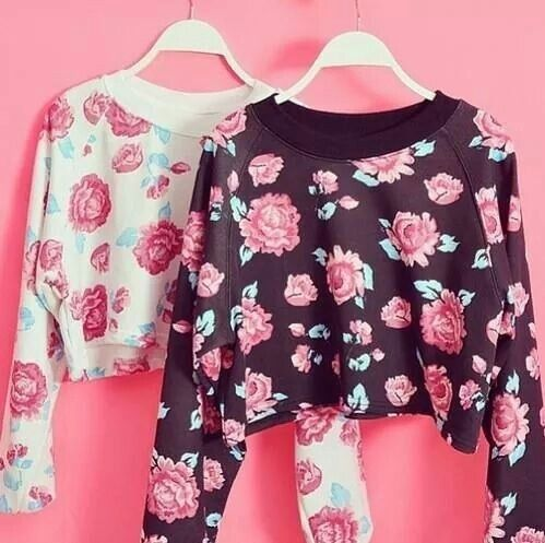 floral print, summer, outfits, pretty, pastel