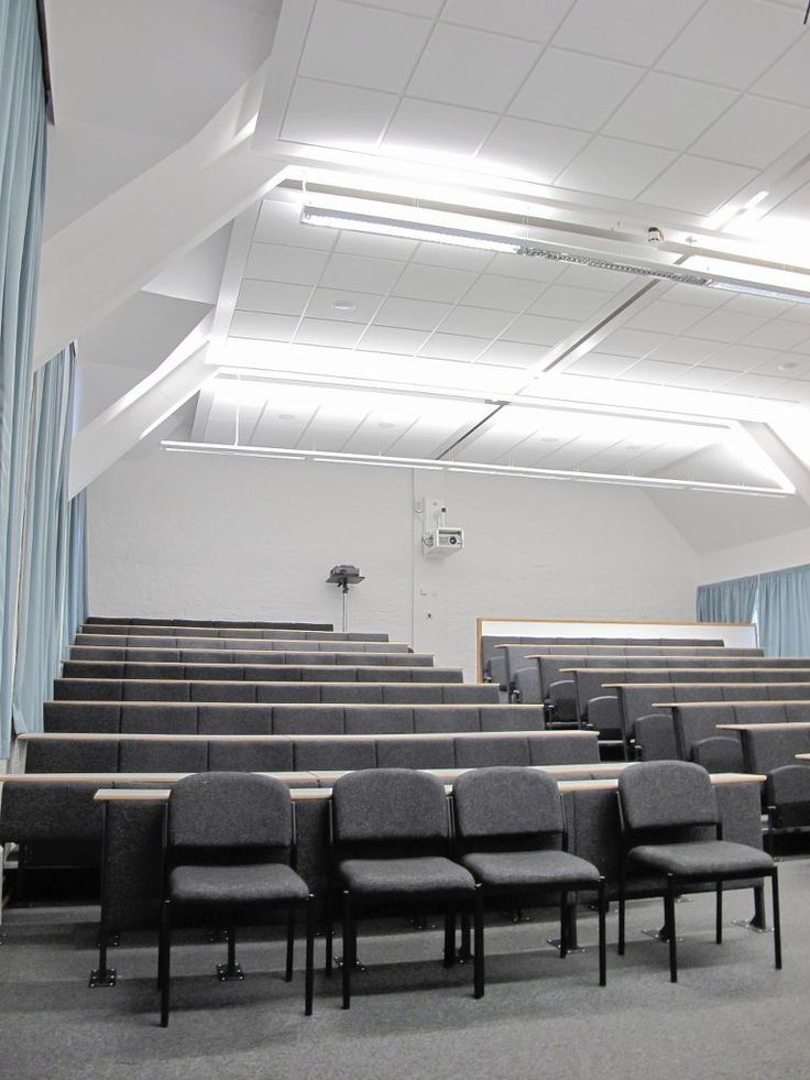 Philip Rahtz Lecture Theatre, University of York, Heslington, Armstrong, sufity podwieszane, ceiling, acoustic, sufit akustyczny, Optima MicroLook