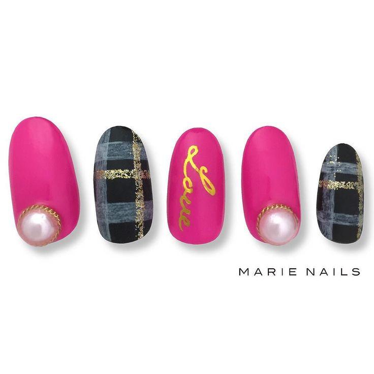 #check #マリーネイルズ #ネイル #cool #nailaddict  #ジェルネイル #ネイルアート #gelnails #swag #marienails  #nice #nailist #nail #toocute #pink #ネイリスト #nails  #naildesign #kawaii #タータンチェック #ファッション #beauty #nailart #nailswag #fashion #ootd #ピンク #tokyo #ネイルデザイン #オシャレ