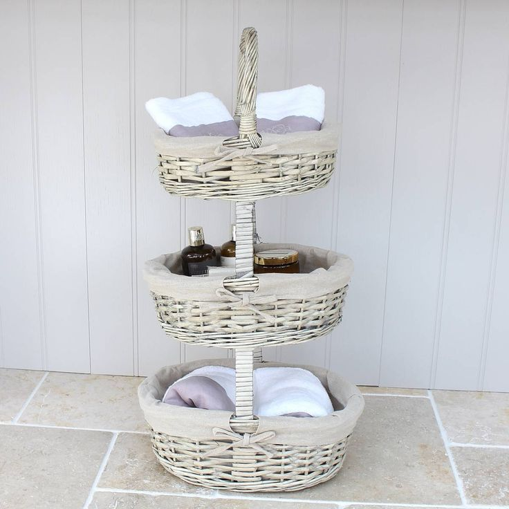 Photos On Bathroom baskets storage