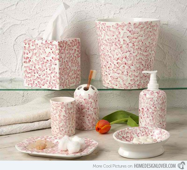 15 Chic Pink Bathroom Accessories Set