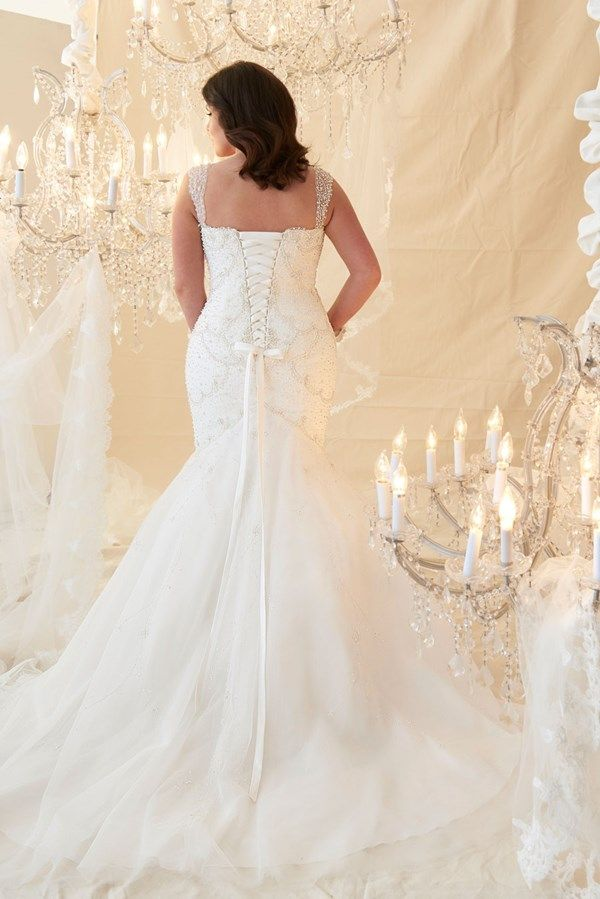 Fishtail plus size wedding dress