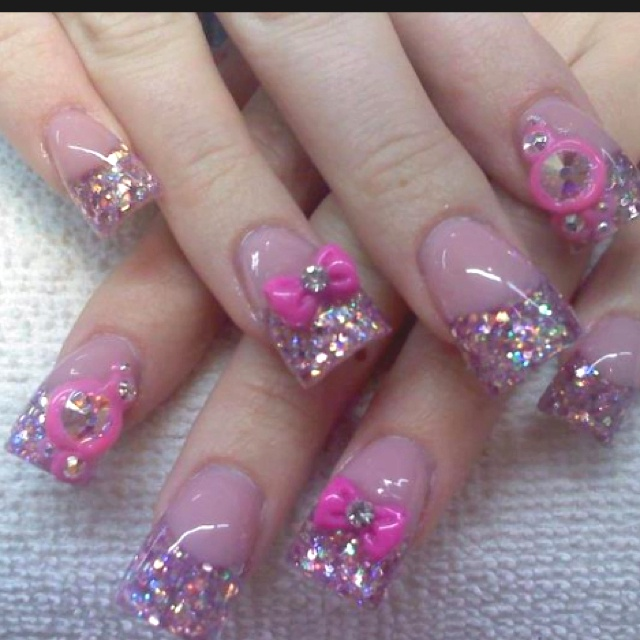 Acrylics by Celeste Young-how fun are these??? Love the ghetto girl nails!!!