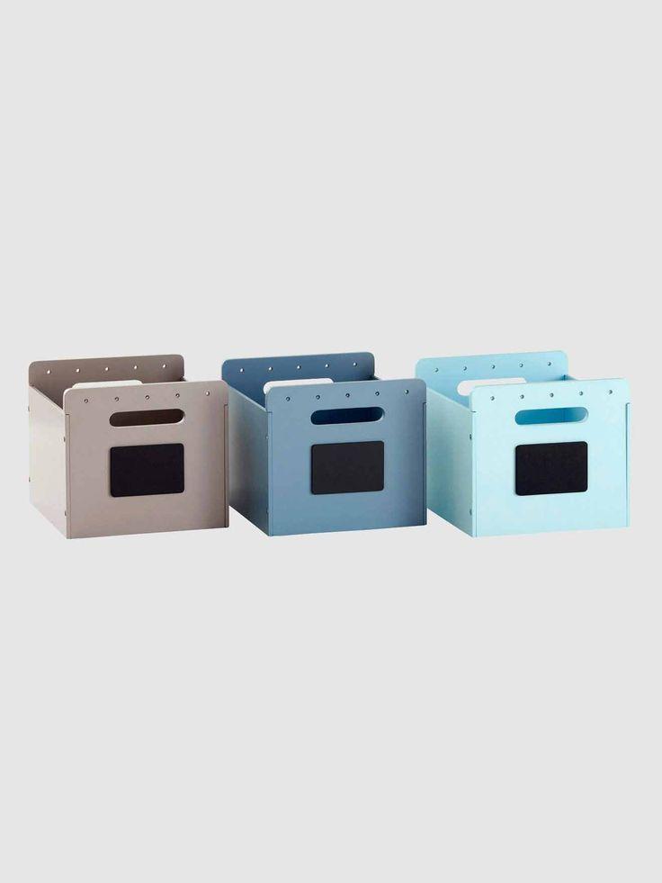 Set of 3 Painted Wood Storage Boxes, Baby Bedroom | Vertbaudet