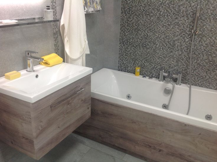 Devon Stone Black Feature Floor Tile 33x33cm In 2019: We Are Just Loving The Matching Vanity Units And Bath