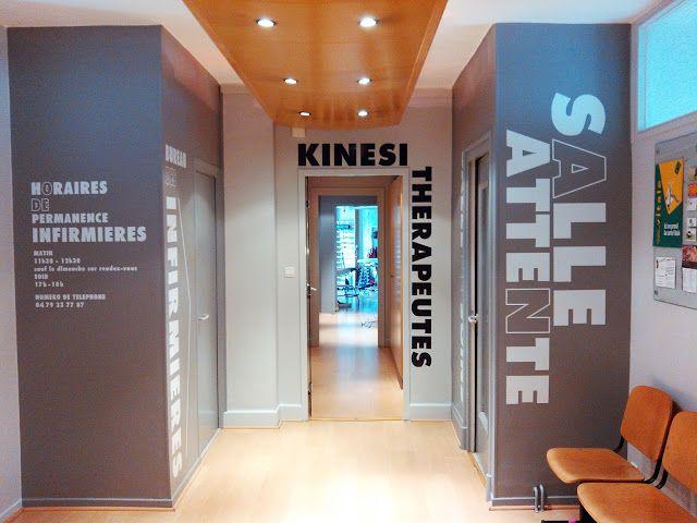 Designer Graphic Sandy Parkinson Signaletique Sur Mesure Interieur Cabinet Cabinet De Kinesitherapie Cabinet Osteopathie Cabinet Kine