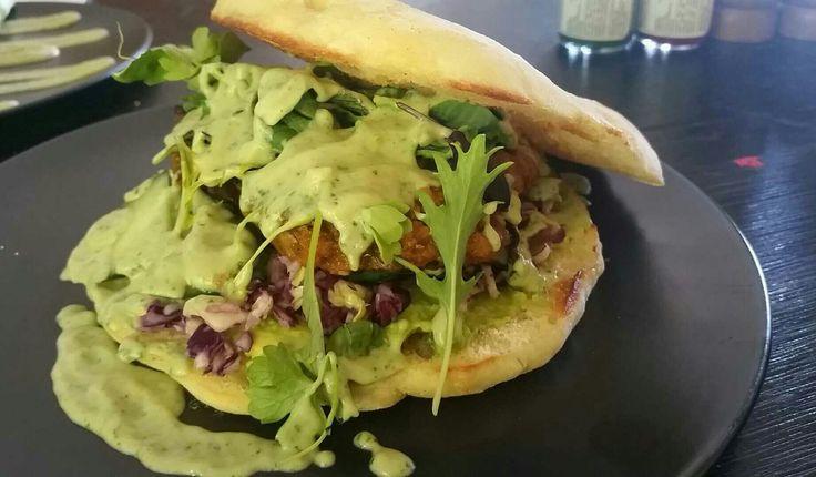 Vegan sweet potato & lentil patty burger - Bambi's