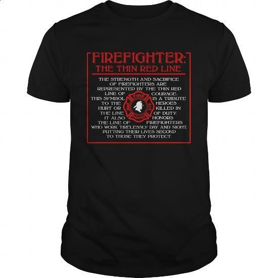 Firefighter: The Thin Red Line - #t shirt designer #awesome hoodies. CHECK PRICE => https://www.sunfrog.com/LifeStyle/Firefighter-The-Thin-Red-Line-Black-Guys.html?60505