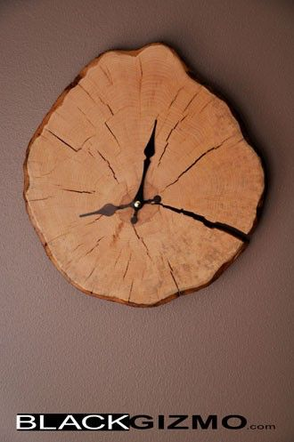 Wooden Clock Wage WC002 by blackgizmo on Etsy https://www.etsy.com/listing/63207502/wooden-clock-wage-wc002