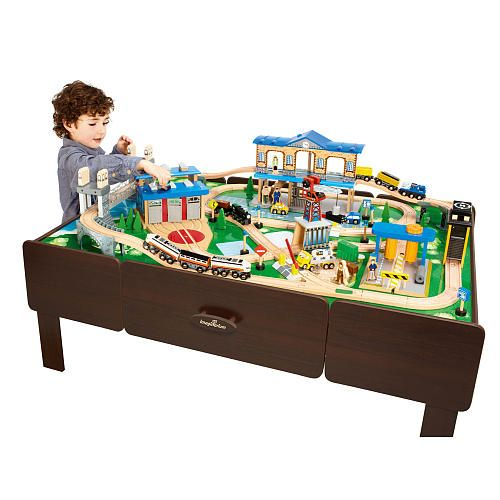 Good Imaginarium City Central Train Table  Maybe From Santa Next Christmas?  Comes With Large Table, Over 23 Ft. Of Track, Buildings, Trains, Etc.
