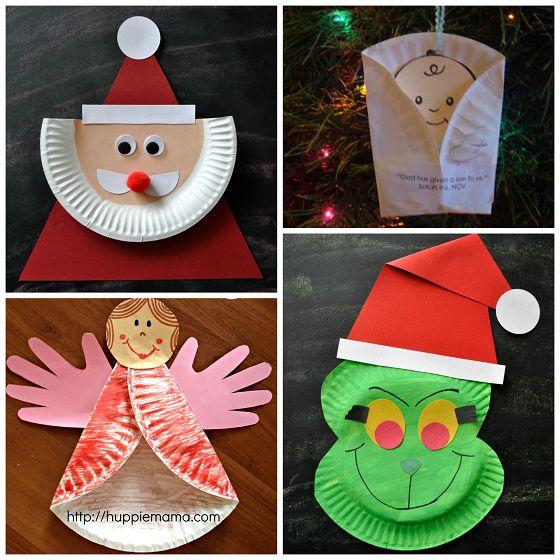Reciclaje con platos de papel para Navidad                              …                                                                                                                                                                                 Más