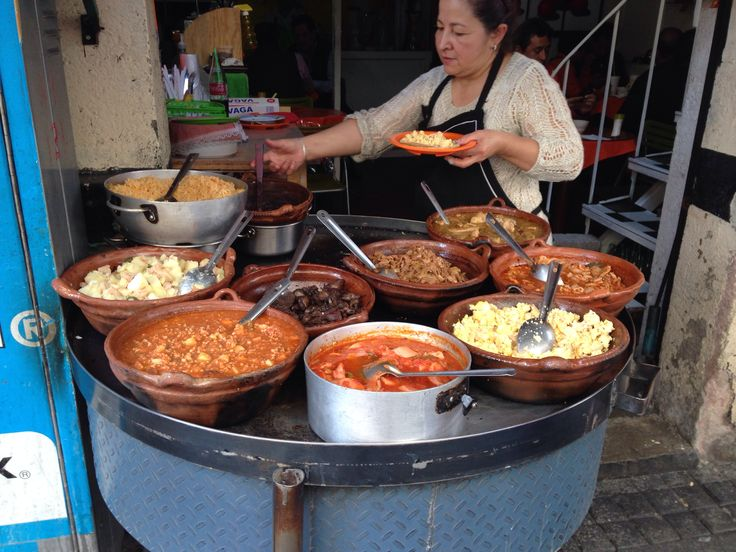 The beauties of Mexico. Food made from scratch, in pots of clay. Tacos de guisado