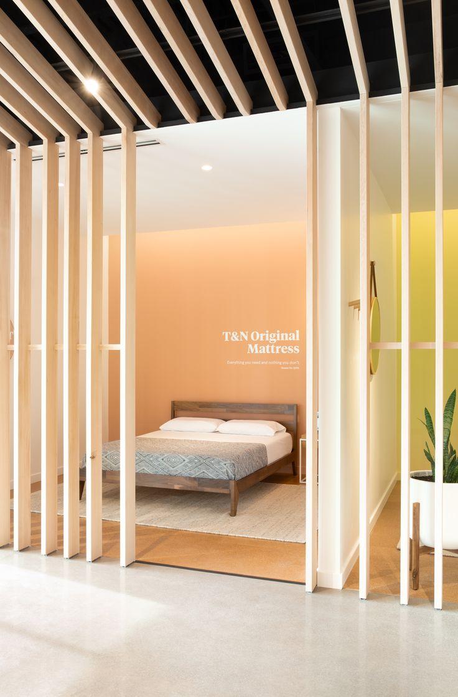 Tuft & Needle Bar interior, Room divider, Tuft & needle