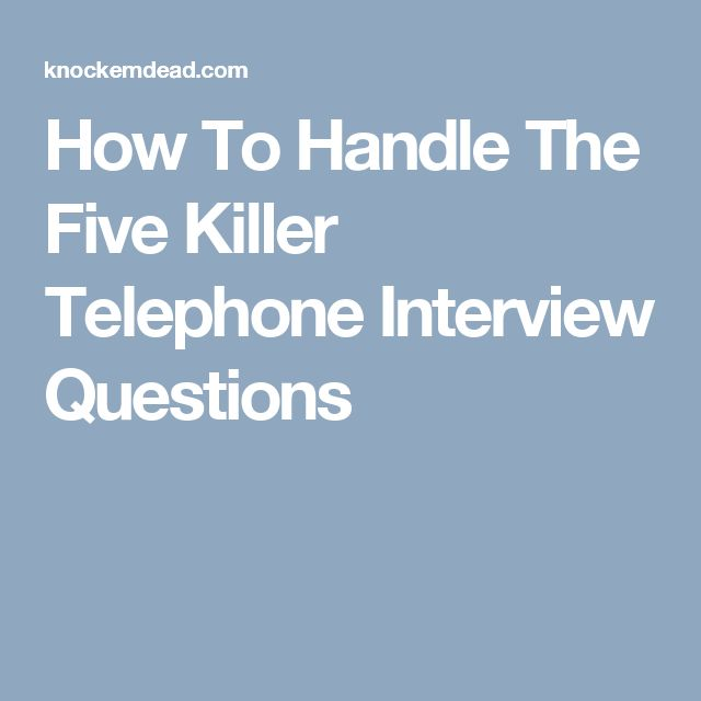 The 25+ best Telephone interview questions ideas on Pinterest - resume interview questions