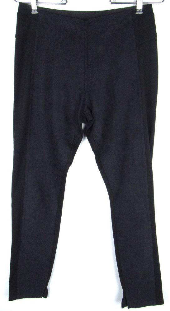 1582b0d0c45af Seven7 Faux Suede Ponte Knit Black Leggings Yoga Fitness Size 6 New NWT  #fashion #clothing #shoes #accessories #womensclothing #leggings (ebay link)