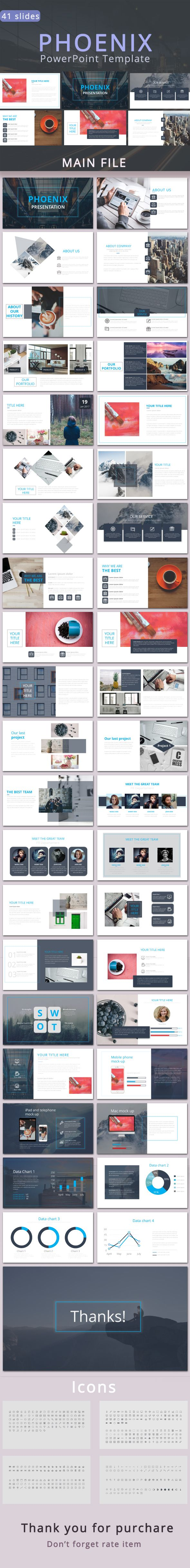 Phoenix Presentation - #Business #PowerPoint #Templates Download here: https://graphicriver.net/item/phoenix-presentation/19509019?ref=alena994