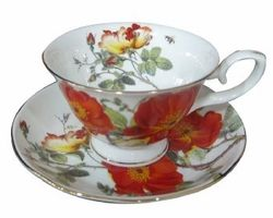 Rose and Poppy Tea Cups - Set of 4 - The Teapot Shoppe Inc.  sc 1 st  Pinterest & 47 best Tea Cups n Dessert Plates images on Pinterest | Dessert ...
