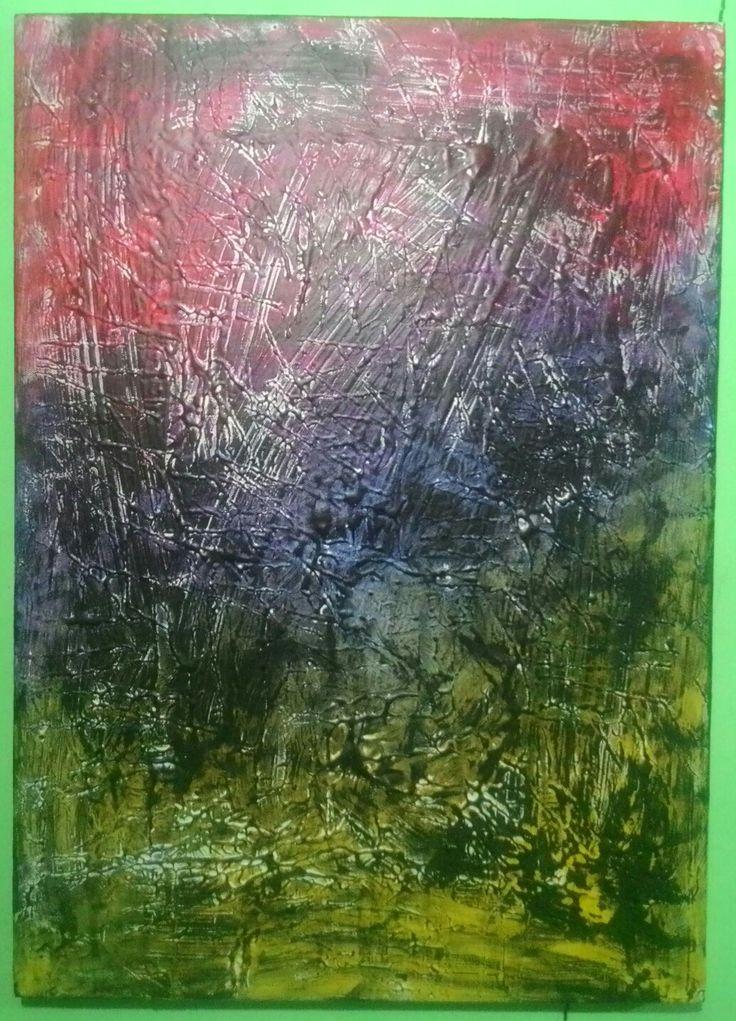 """""""Gejolak"""" 70x50cm 2015 Mix media on canvas"""