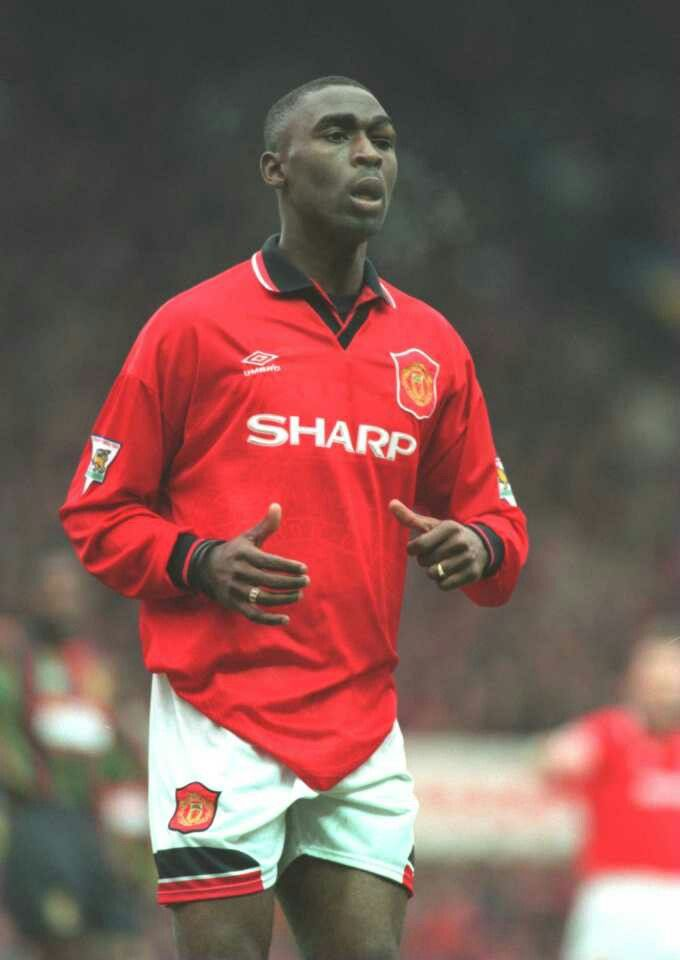 Andy Cole of Man Utd 1995.