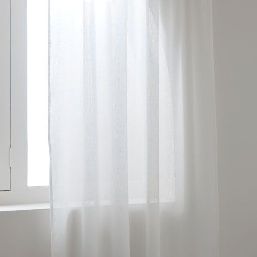 Image of the product White sheer linen curtain