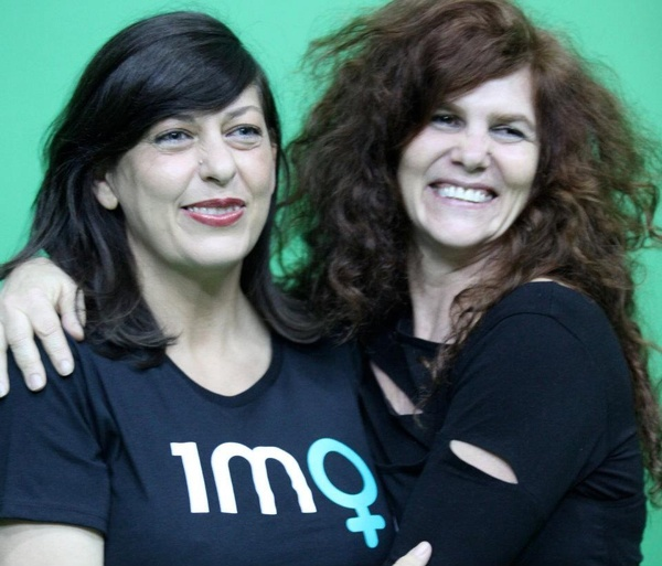 Liane Rossler and Natalie Isaacs - Behind the scenes shooting a Campaign video in 2012
