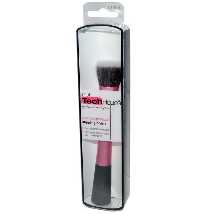 Real Techniques by Samantha Chapman, Your Finish/Perfected, Stippling Brush - iHerb.com