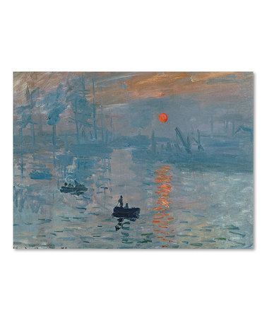 Another great find on #zulily! Monet Impression Sunrise Replica Wall Art #zulilyfinds