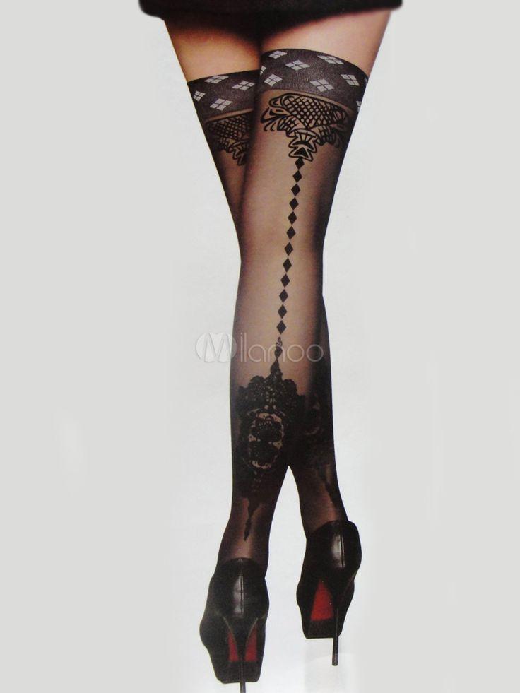 Medias negras sexys para este invierno #mediasestampadas #mediasnegras #sexy…